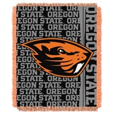 "Oregon State ""Double Play"" Woven Jacquard Throw"