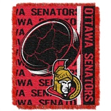 "Ottawa Senators NHL ""Double Play"" Woven Jacquard Throw"