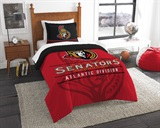"Ottawa Senators NHL ""Draft"" Twin Comforter Set"