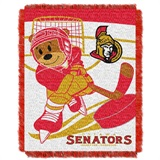 "Ottawa Senators NHL ""Score Baby""Baby Woven Jacquard Throw"