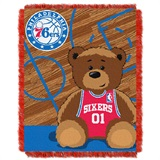 "Philadelphia 76ers NBA ""Half-Court"" Baby Woven Jacquard Throw"