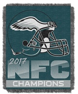 Philadelphia Eagles NFC Champs NFL Woven Jacquard Throw