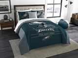 "Philadelphia Eagles NFL ""Draft"" King Comforter Set"