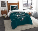 "Philadelphia Eagles NFL ""Draft"" Twin Comforter Set"