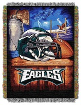 "Philadelphia Eagles NFL ""Home Field Advantage"" Woven Tapestry Throw"