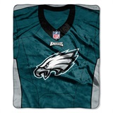 "Philadelphia Eagles NFL ""Jersey"" Raschel Throw"