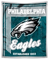 "Philadelphia Eagles ""Old School"" Mink with Sherpa Throw"