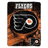 "Philadelphia Flyers NHL ""Ice Dash"" Micro Raschel Throw"