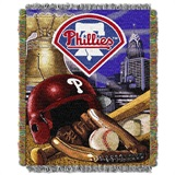 "Philadelphia Phillies MLB ""Home Field Advantage"" Woven Tapestry Throw"