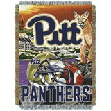 "Pittsburgh Panthers NCAA ""Home Field Advantage"" Woven Tapestry Throw"