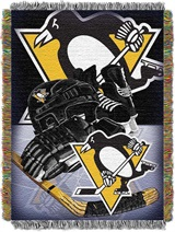 "Pittsburgh Penguins NHL ""Home Ice Advantage"" Woven Tapestry Throw"