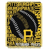 "Pittsburgh Pirates MLB ""Double Play"" Woven Jacquard Throw"