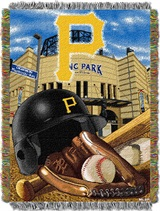 "Pittsburgh Pirates MLB ""Home Field Advantage"" Woven Tapestry Throw"