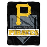"Pittsburgh Pirates MLB ""Home Plate"" Raschel Throw"
