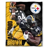 "Pittsburgh Steelers NFL ""Antonio Brown"" Players HD Silk Touch Throw"
