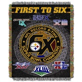 "Pittsburgh Steelers NFL ""Commemorative"" Woven Tapestry Throw"