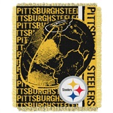 "Pittsburgh Steelers NFL ""Double Play"" Woven Jacquard Throw"