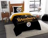"Pittsburgh Steelers NFL ""Draft"" Twin Comforter Set"