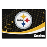 "Pittsburgh Steelers NFL ""Extra Point"" Large Tufted Rug"