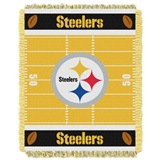 "Pittsburgh Steelers NFL ""Field"" Baby Woven Jacquard Throw"