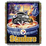 "Pittsburgh Steelers NFL ""Home Field Advantage"" Woven Tapestry Throw"