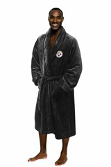 Pittsburgh Steelers NFL Men's L/XL Silk Touch Bath Robe