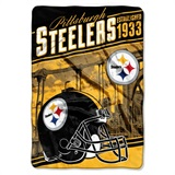 "Pittsburgh Steelers NFL ""Stagger"" Micro Raschel Throw"