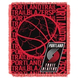 "Portland Trail Blazers NBA ""Double Play"" Woven Jacquard Throw"