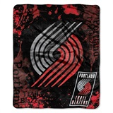 "Portland Trail Blazers NBA ""Dropdown"" Raschel Throw"
