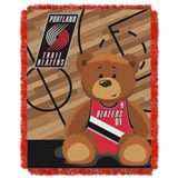 "Portland Trail Blazers NBA ""Half-Court"" Baby Woven Jacquard Throw"