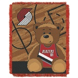 "Portland Trailblazers NBA ""Half-Court"" Baby Woven Jacquard Throw"