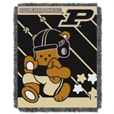 "Purdue  Boilermakers NCAA ""Fullback"" Baby Woven Jacquard Throw"