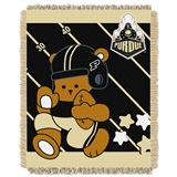 "Purdue ""Fullback"" Baby Woven Jacquard Throw"