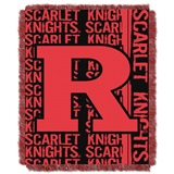 "Rutgers  ""Double Play"" Woven Jacquard Throw"