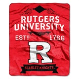 "Rutgers  ""Label"" Raschel Throw"