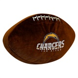 Los Angeles Chargers NFL  Football Shaped 3D Plush Pillow