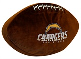San Diego Chargers Football Shaped 3D Pillow