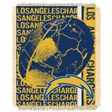 "Los Angeles Chargers NFL ""Double Play"" Woven Jacquard Throw"