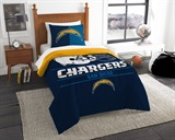 "Los Angeles Chargers NFL ""Draft"" Twin Comforter Set"