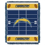 "Los Angeles Chargers NFL ""Field"" Baby Woven Jacquard Throw"