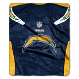 "Los Angeles Chargers NFL ""Jersey"" Raschel Throw"