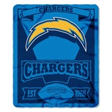 "Los Angeles Chargers NFL ""Marquee"" Fleece Throw"