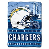 "Los Angeles Chargers NFL ""Stacked"" Silk Touch Throw"