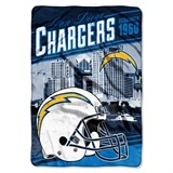 "Los Angeles Chargers NFL ""Stagger"" Micro Raschel Throw"