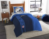 "Los Angeles Chargers NFL ""Soft & Cozy"" Twin Comforter Set"