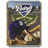 "San Diego Padres MLB ""Home Field Advantage"" Woven Tapestry Throw"