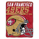 "San Francisco 49ers NFL ""40 yard Dash"" Micro Raschel Throw"