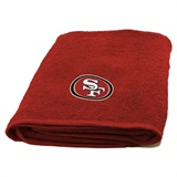 San Francisco 49ers NFL Appliqué Bath Towel