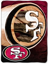 "San Francisco 49ers NFL ""Bevel"" Micro Raschel Throw"