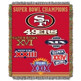 San Francisco 49ers NFL Commemorative Woven Tapestry Throw